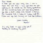 Alistair Cook's original school letter