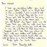 Beverley Prett's original letter