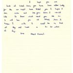 David Holmes' original letter