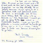 Diane Thomas original letter