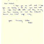 Gillian Perkins' original letter