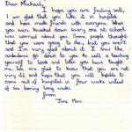 Jane Moss's original letter