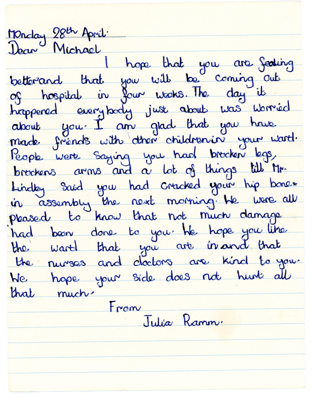 Julia Ramm's original letter