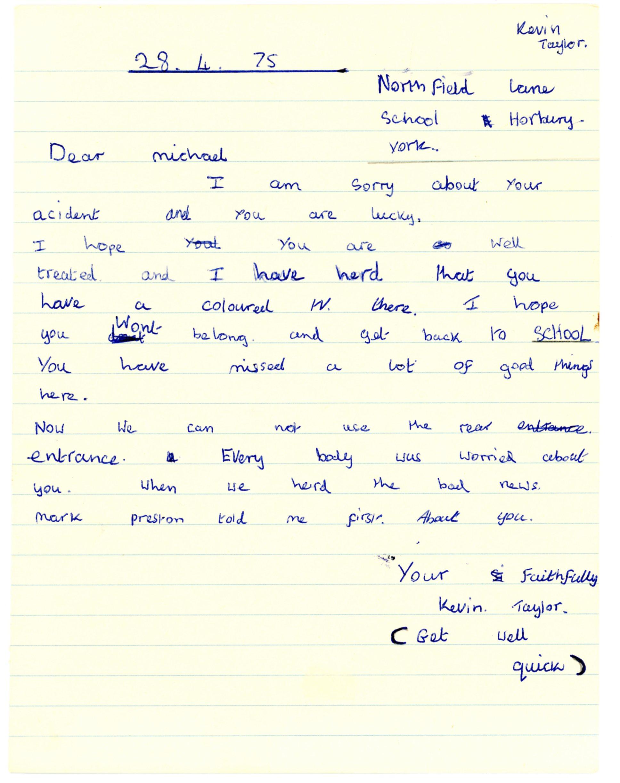 Kevin Taylor's original letter