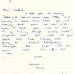 Michael Brunt's original letter