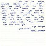 Nigel Thompson's original letter
