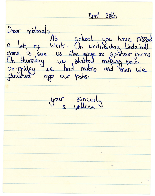 S Willcox's original letter