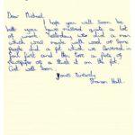 Sharon Hall's original letter