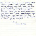 Susan Davies's original letter